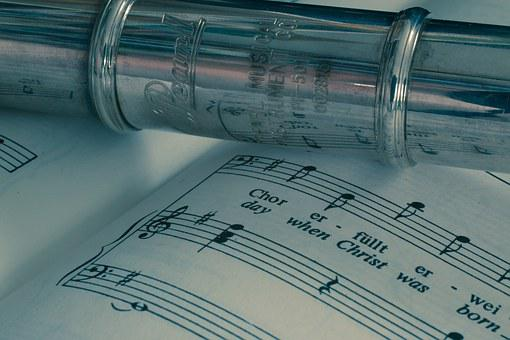 Flute, Musical Instrument, Silver Plated, Music