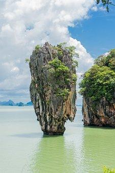 Limestone Cliff, Phang Nga Bay, Landscape, Natural