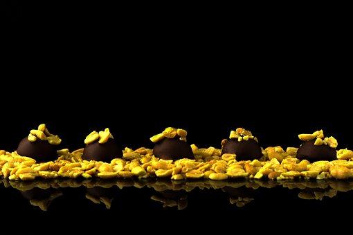 Peanut Truffles, Peanuts, Truffle, Praline, Nuts, Dark