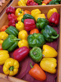 Red Peppers, Green Peppers, Yellow Peppers