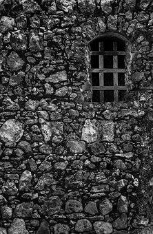 Window, Cell, Rocks, Texture, Wall, Stones