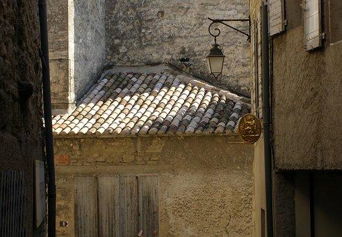 Facade, Road, Homes, Window, Shops, Brittany, Sea
