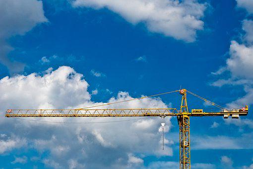 Baukran, Crane, Site, Technology, Sky