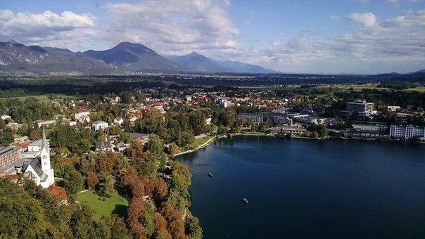 Slovenia, Bled, Castle, Lake, Travel, Water, Mountain
