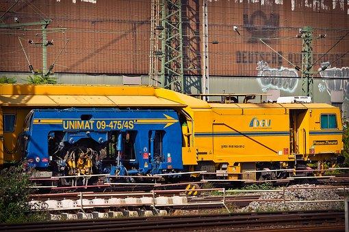 Train, Railway, Station, Locomotive, Track, Führerstand