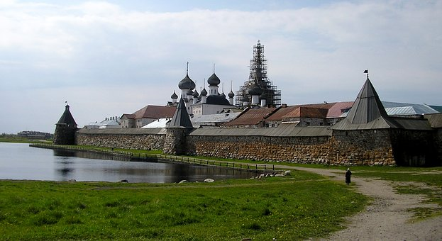 Fortress, Monastery, Road, Tower, Church, Cathedral