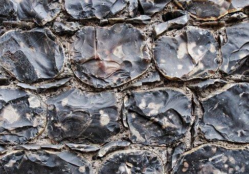 Flint, Stone, Wall, Knap, Knapped, Knapping, Building