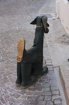 Dog, Wellingtons, Gum Boots, Craft, Quirky, Funky
