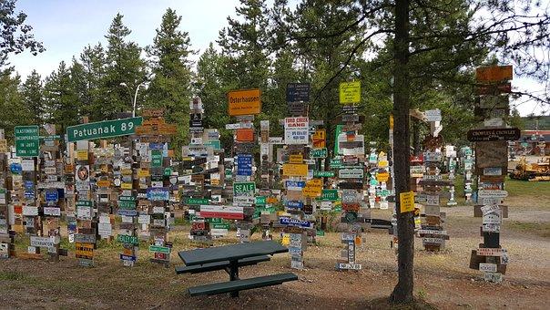 Signpost Forest, Watson Lake, Yukon, Alaska Highway