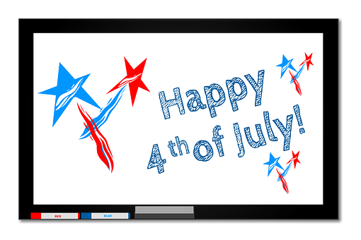 Fourth Of July, 4th Of July, Red, Blue, White, 4th