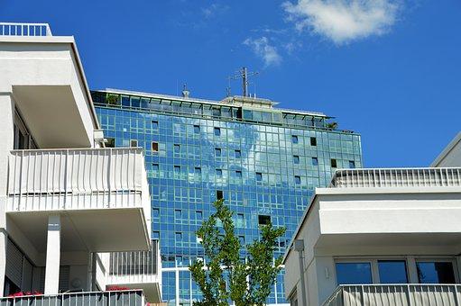 Kempten, Hotel, Architecture, Skyscraper, Glass Front
