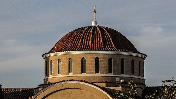 Cyprus, Paralimni, Ayios Georgios, Church, Dome