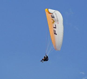 Tandem Flight, Paragliding, Bird's Eye View
