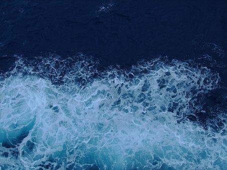 Ocean, Breaker, Blue, Water, Splash, Whitecap, Wave