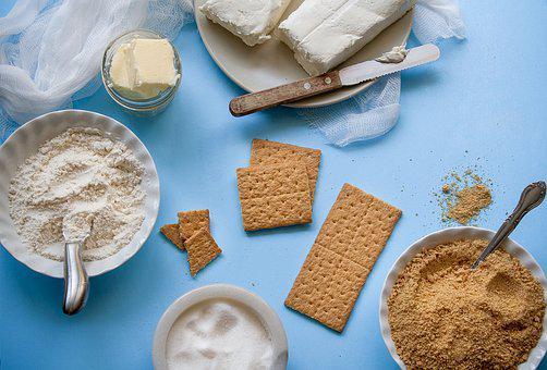 Ingredients, Butter, Cheese, Cookies, Graham Crackers