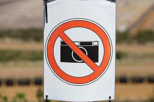 Shield, Prohibitory, Prohibited, Camera