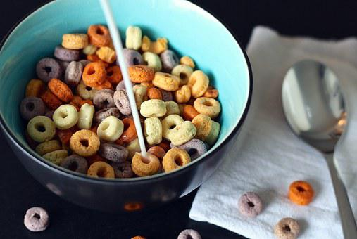 Cereal, Spoon, Milk, Cheerios, Children, Kid, Morning
