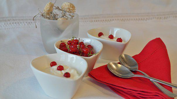 Yogurt, Currants, Dessert, Cream, Milk Product, Milk