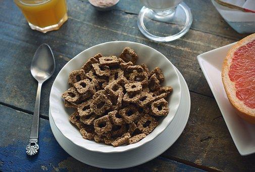 Cereal, Fiber, Breakfast, Grapefruit, Juice, Milk