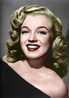 Marilyn, Coloured, 30's, Old Photograph, Ps