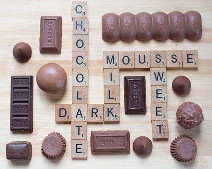 Scrabble, Chocolate, Dark Chocolate, Milk Chocolate