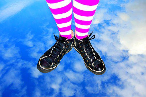 Foot, Leg, Body, Female, People, Person, Sneakers
