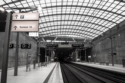 Railway Station, Airport, Platform, Cologne, Bonn