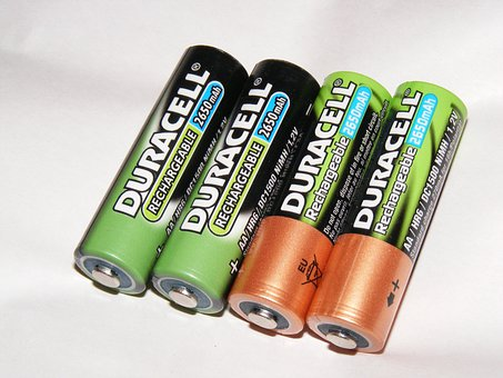 Batteries, Battery, Duracell, Hr6, Nimh, Rechargeable