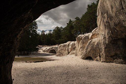 Sandstone Caves, Resin, Blankenburg, Sand Stone, Rock
