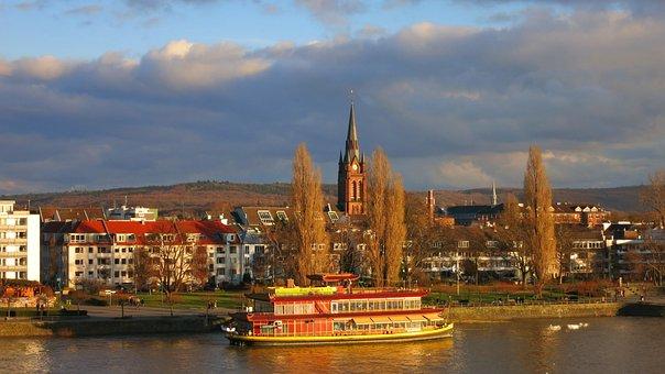 Bonn, Rhine River, Ship, Rhine, River, Architecture