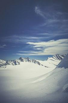 Glacier, Mountain, Summit, Snow, Alpine, Landscape