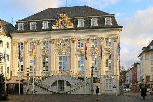 Bonn, Rhine River, Town Hall