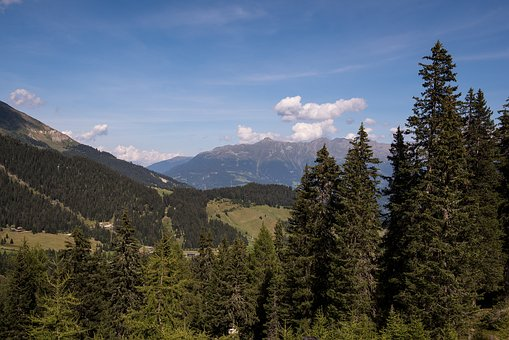 Landscape, View, Outlook, Mountains, Trees, Sky, Nature