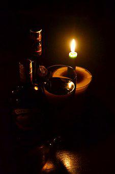 Candle Light, No Electricity, Wine