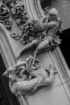 Sant Jordi, Art, Sculpture, Religion, Statue, Santo