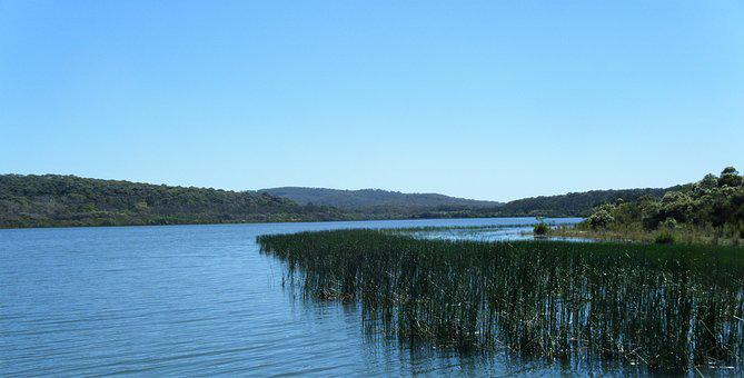 Water, Nature, Lake, River, Sky, Hills, Blue, Outdoor