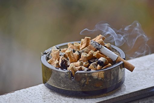 Ashtray, Smoke, Cigarettes, Bowl, Smoking, Cigarette