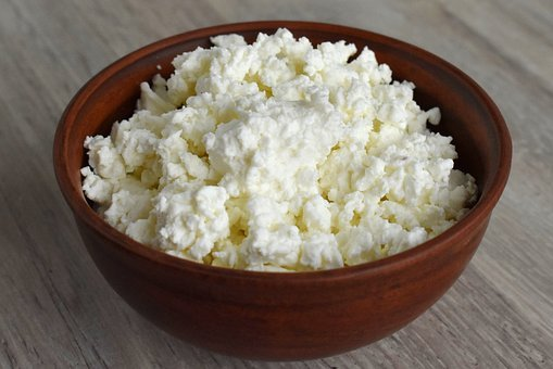 Bowl, Food, Wood, Table, Cottage Cheese, Traditional