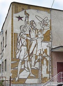 Socialism, Communism, Soviet Star, Atomic Symbol, Dove