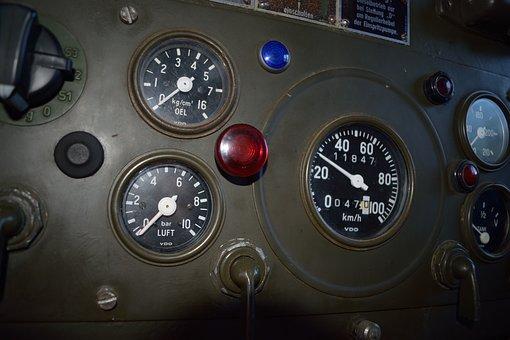 Control Panel, Motor Control Center, Gauge, Speed, Car