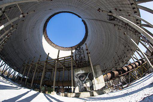 Cooling Tower, Reactor, Chernobyl, Unfinished, Snow