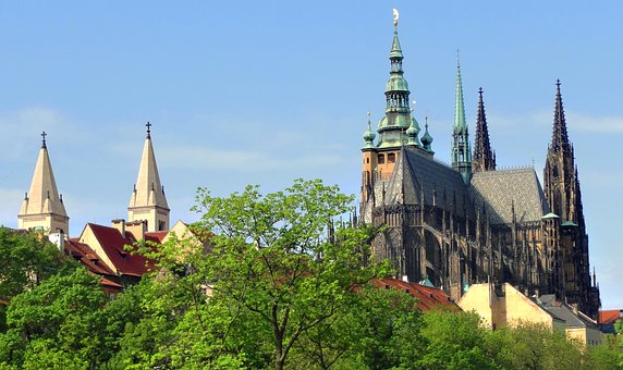 Prague Castle, Czechia, Cathedral, Basilica, Castle