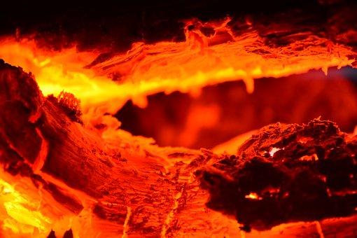 Hot, Flame, Heat, Burn, Flammable, Fire, Log, Chimney