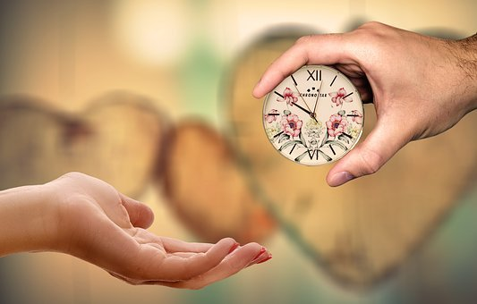 Love, Heart, Time, Give, Take, Gift, Clock, Affection