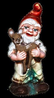 Dwarf, Imp, Garden Gnome, Roe Deer, Historically