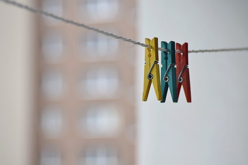 Clothesline, Pin, Linen, Hanging, Rope, Cord, Laundry