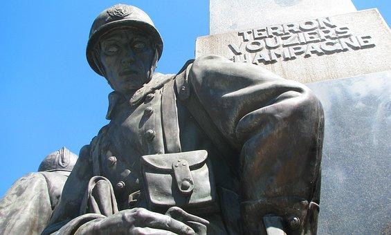 Monument, Prague, Czechia, Statue, Sculpture, Soldier