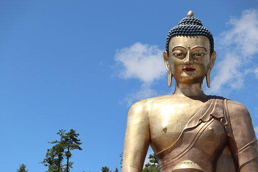 Statue, Travel, Sculpture, Sky, Gold, Art, Religion