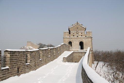Winter, Snow, Building, Tourism, Sky, China