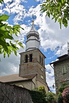 Spire, Silver, Church, Architecture, Old, Sky, Building